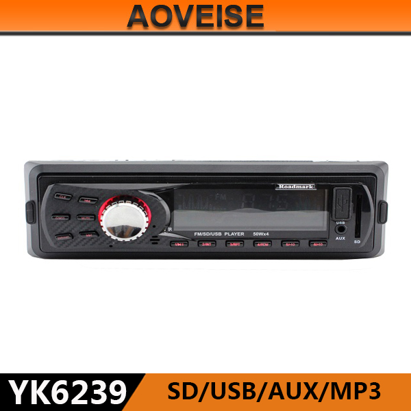 AOVEISE YK6239 Hot selling china manufacturer car stereo player fm transmitter.multifucntion audio for car mp3 player to Iran