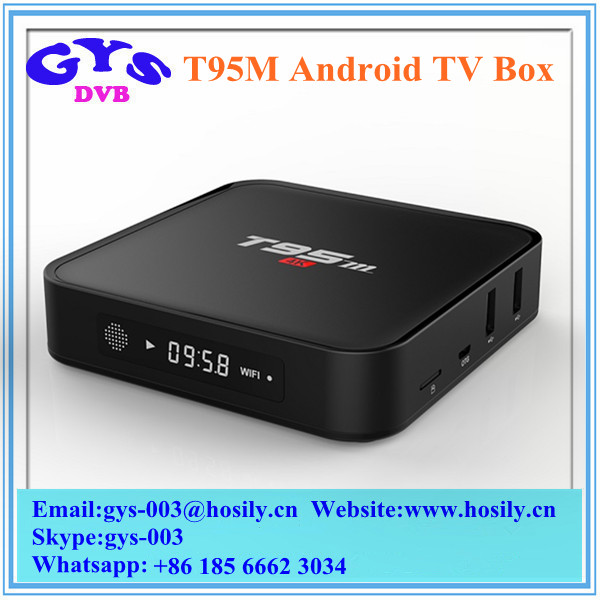 T95M 4K Android TV Box Amlogic S905 GPU Penta Core Android 5.1 Smart 1080p HD Set Top TV Box