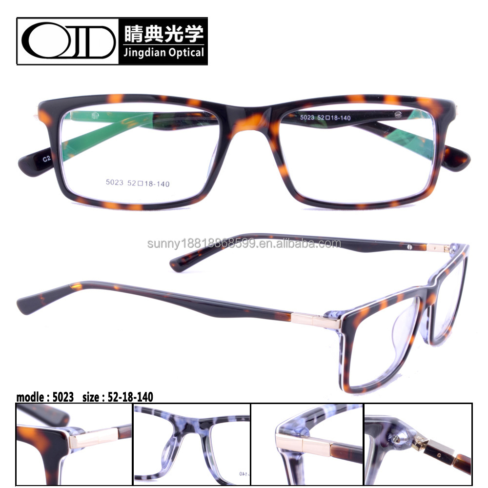 New design acetate eyewear wholesale eyeglasses frames tortoise eywear 5023