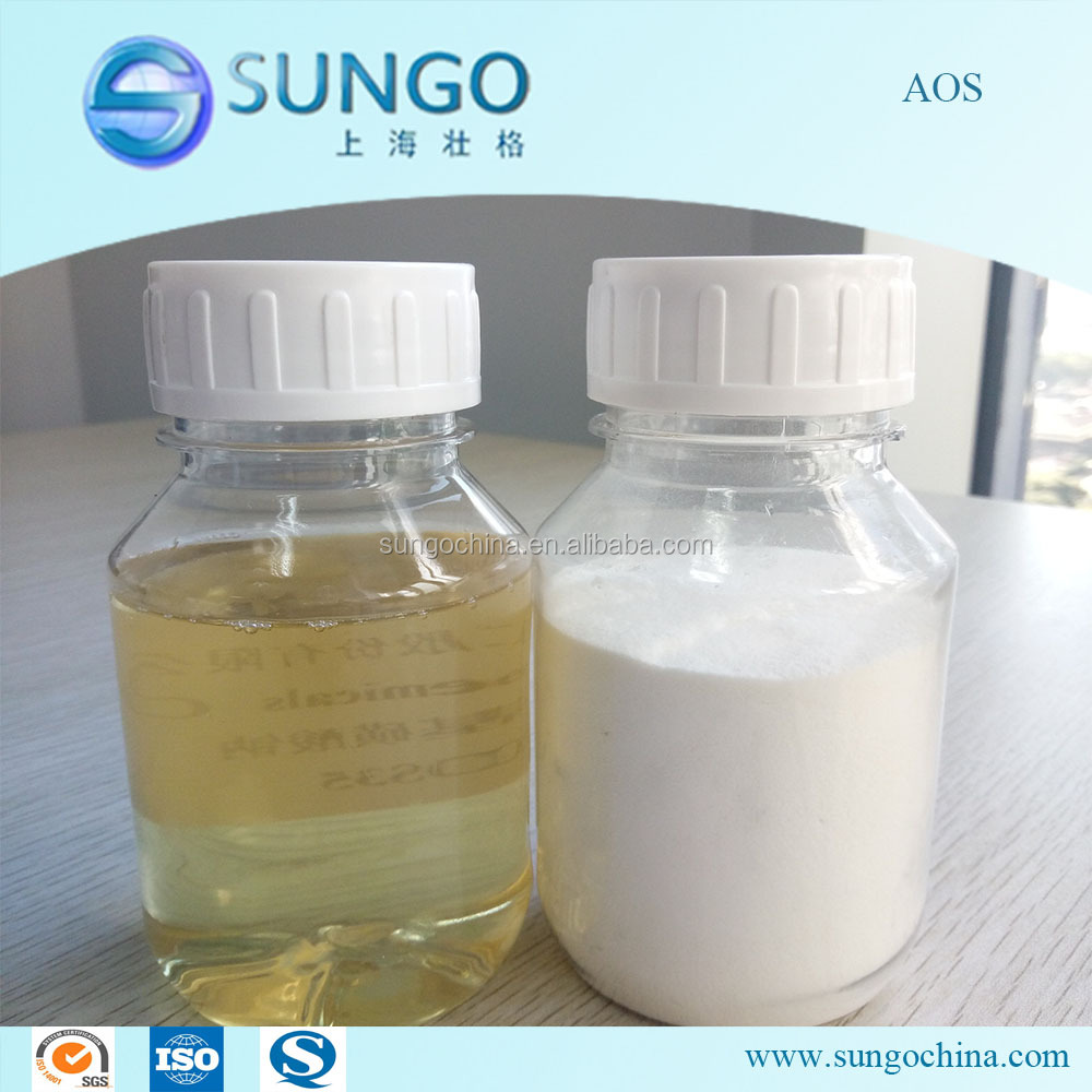 Detergent Chemical AOS 35% 92%, Sodium Alpha Olefin Sulfonate