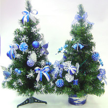 2017 christmas decorations plastic mini pre decorated Christmas tree