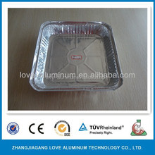 Convenient Best-Selling High Quality Rectangular Hot Sale Takeaway Aluminum Foil Food Container/Plate/Tray Container Plate