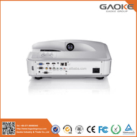 GAOKE Brightness 3300 Ansi 3D Ultra Short Throw UST Rear Daylight DLP Video portable mini projector