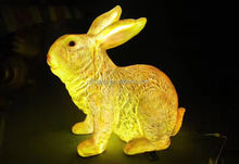 Popular FRP/Fiberglass Reinforce Plastic/Resin Rabbit Sculpture/Statue with Light Source