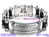 new products 2016 high end quality stainless steel bicycle chains man bracelets