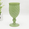 High Quality Hand Press Opal Glass Colored Glass Goblet