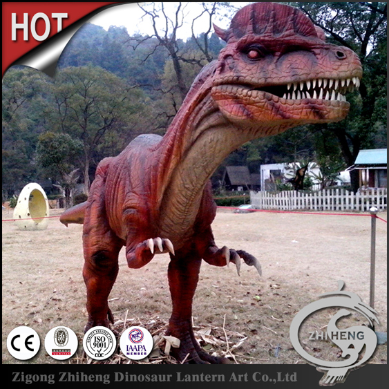 Outdoor Natural size artificial dinosaur and remote control dinosaur toy
