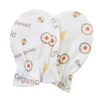 Organic Cotton Cookie Baby Scratch Mittens