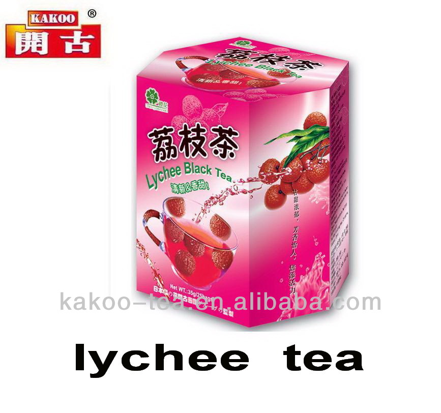 Kakoo lichee bubble tea bag litch bubble teabag lychee black bubble tea bag