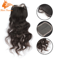 Natural Brazilian Hair 100% Virgin Raw Unprocessed Virgin Malaysian Hair Body Wave Closure 100% Grade 8a
