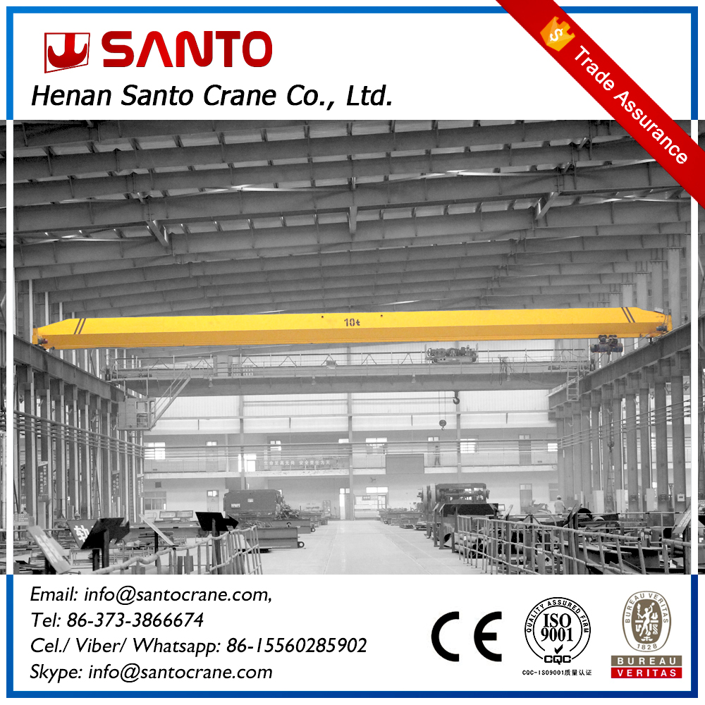 2ton manual drive hoist traveling single beam girder bridge crane with electric parts