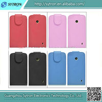 High Quality Wholesale Leather Flip Case For Nokia Asha 501