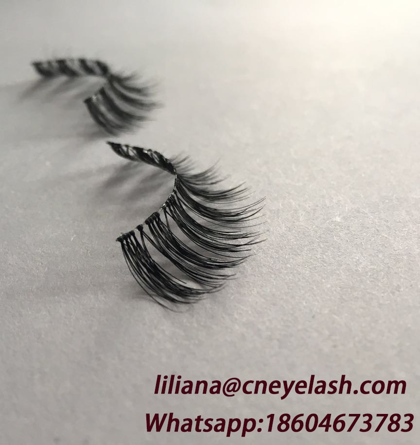 new 100% handmade faux mink fur/silk false eyelash mimic the real 3D mink fur strip lashes