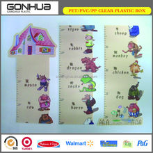 160cm cartoon animals China factory price simple custom eva foam wall ruler clear plastic growth chart for children