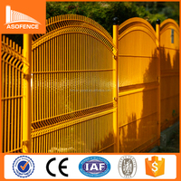 Trade Assurance galvanized hot sale curved metal fence panels