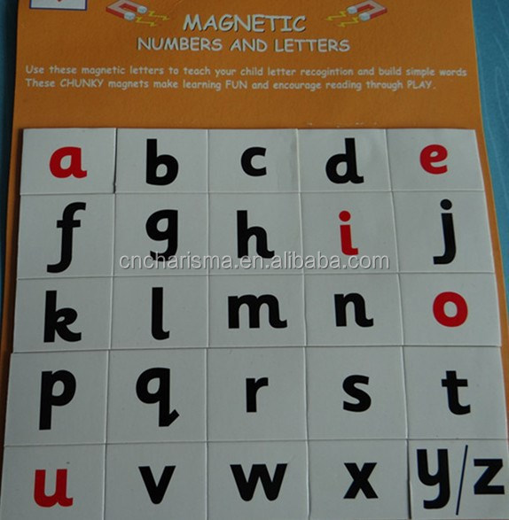 Alphabet Fridge Magnets for kids learning and playing