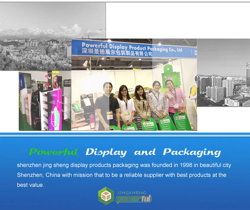 custom retail merchandise air conditioner parts corrugated display stand umbrella cardboard floor display stand
