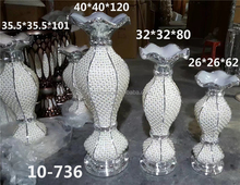 736Wholesale OEM Elegant Heart Shape Floor Pearl Gold Silver Resin Inser Flower Vase For Home Decor