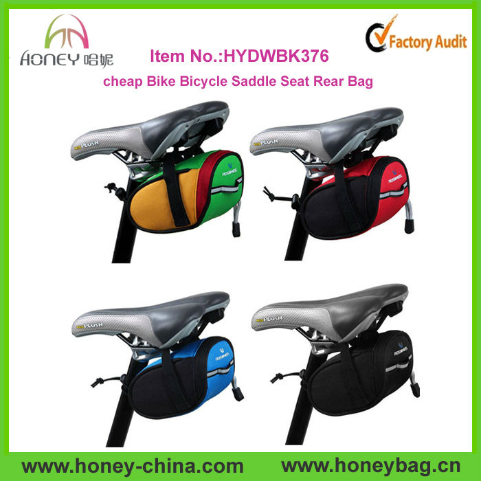 Super Mini Rat Waterproof Polyester Cool Cycling Cheap Bike Seat Saddle Bag
