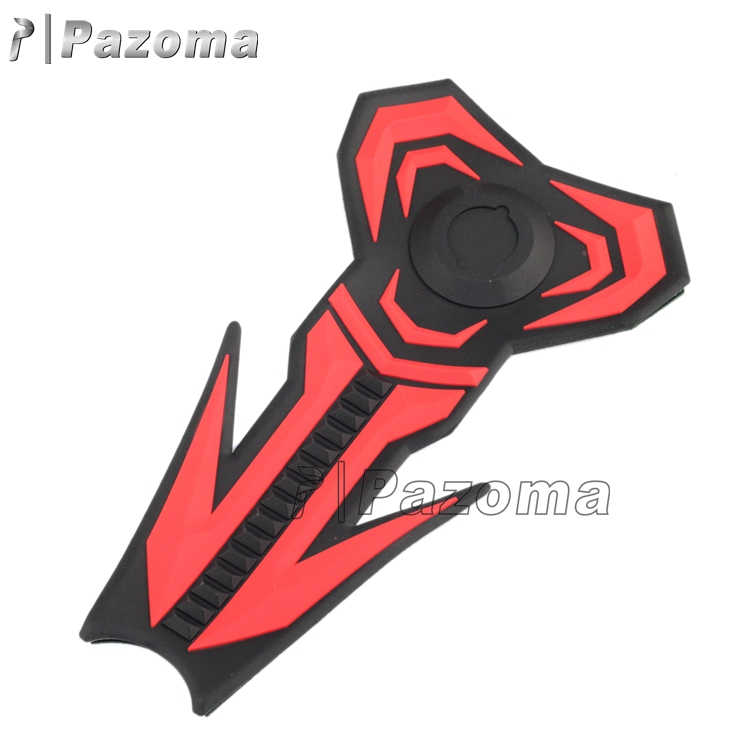 Brand New Pazoma 3d Red Black one layer rubber Tank Fuel Pad Grip Protector For Motorcycle