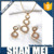 Women's Zinc Alloy Jewelry Sets Studded With Pearls/Can Be Customized Plating Color