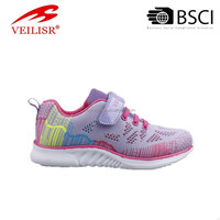2017 latest LED style pretty kid shoes upper with lights