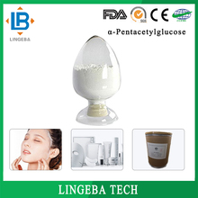 Natural Cosmetic Raw Material 98% Alpha Pentacetylglucose
