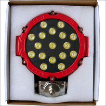 51w led work light zoom hid rechargeable flashlight led driving lights round Goatsucker JY-529