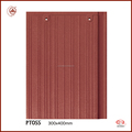 Newly Building Materials Rose Red Glazed clay flat roof tile