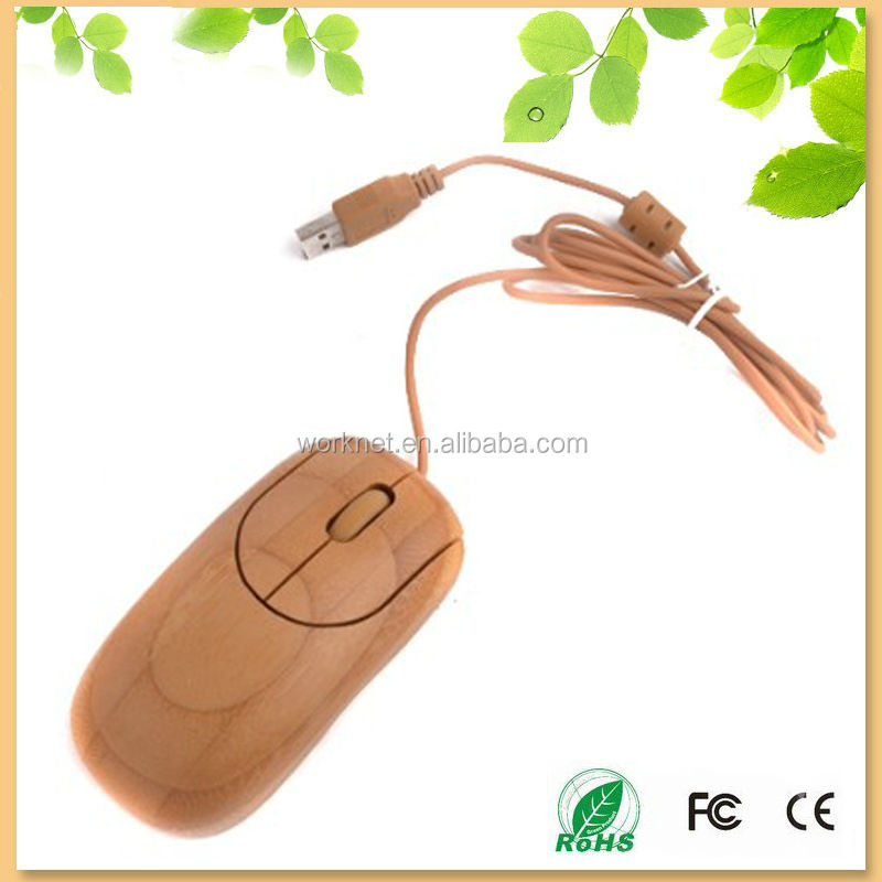 creative new product handmade craft bamboo gaming mouse wired