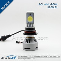 New 2014 6400lm warm white 9004 car led headlight,H4 H13 9004 9007 headlight kit