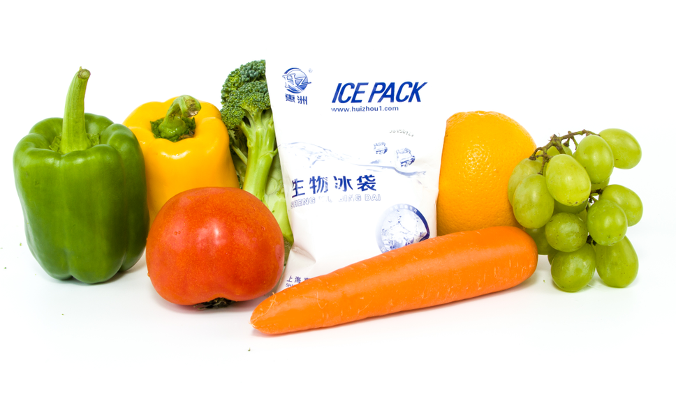 cold gel ice pack for frozen seafood storage and transport
