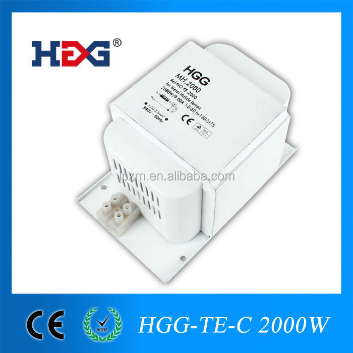 CE approved magnetic metal halide 2000w ballast copper wire