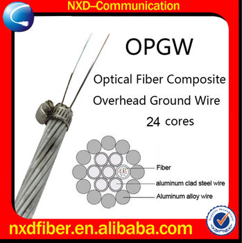 24 Cores Optical Fiber Composite Overhead Ground Wire OPGW