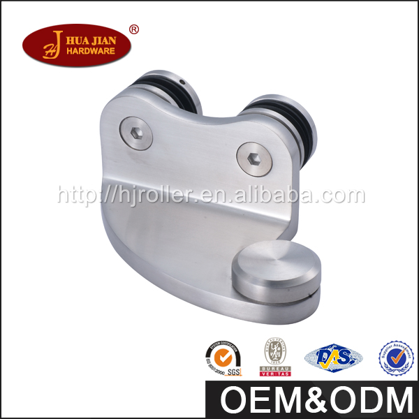 304 SS large-scale exhibition frameless glass fittings hinge for door