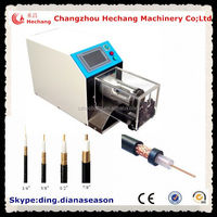 automatic metal clad cable stripping machine for coaxial cable