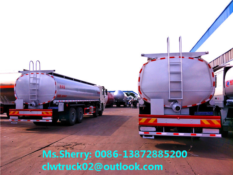 High performance Shacman 8*4 oil tanker truck for sale in Korea