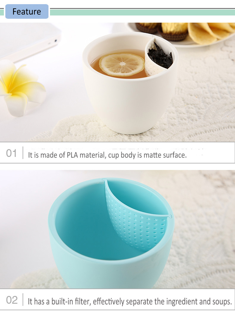 High Grade Eco-friendly And Reusable Filter Cup/Tea Strainer Cup