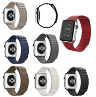 2016 Super Hot Selling Strong Magnetic Closure For Apple Watch Leather Band 38mm 42mm