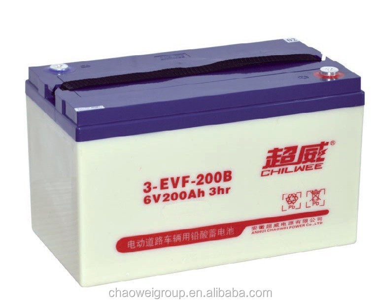 Advanced Direct Casting technical Deep cycle Silicone gel battery 6V200AH/3Hr for golf carts and electric bus