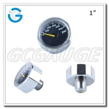 High Quality brass 1 inch mini air pump pressure gage 1/8 NPT BSP