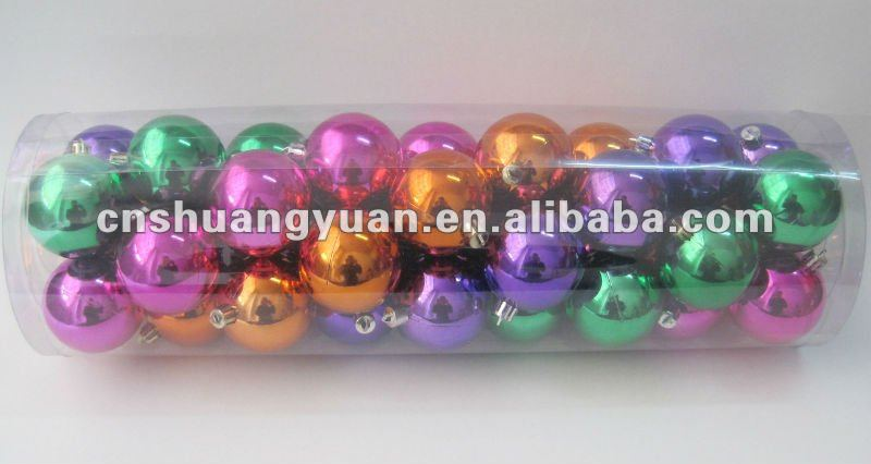 Haning plastic christmas ball cheap , promotional products