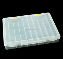 36 grids clear plastic storage box compartment with dividers