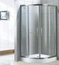 standard size 8mm Tempered Glass shower cubicles and trays