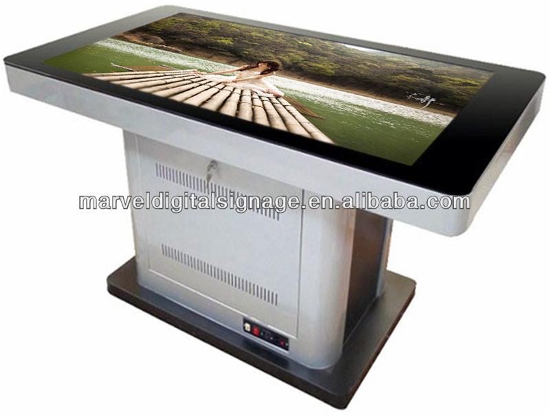 55 pollici impermeabile tavolo tattile interattivo multi touch screen tavolo pubblicit - Tavolo touch screen ...