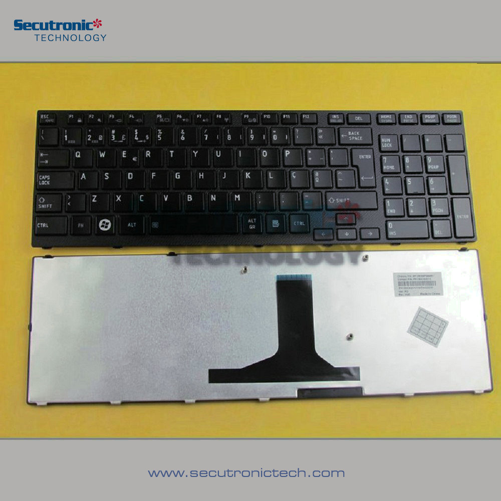 Laptop Keyboard for Toshiba Satellite A660 A665 A650 Portuguese Glossy Black frame <strong>17</strong>