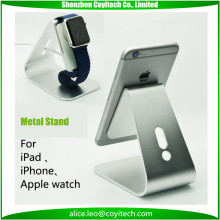 Aluminum tablet stand silver bed table holder with clamp for apple watch