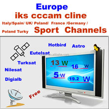 1pcs wholesale cccam cline account server for Europe channels experience a free trial for one day
