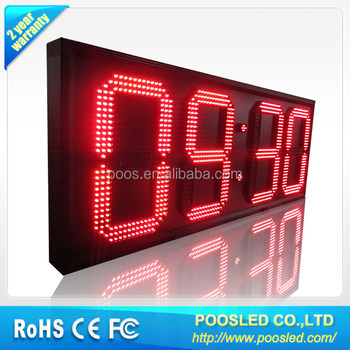 large digital temperature displays \ temperature sensor led display \ led time and temperature signs