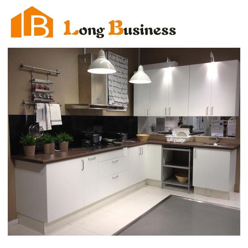 LB-JL1242 Cambodia Project Modern Lacquer Hotel Furniture Commercial Kitchen Cabinets